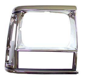 Headlamp Bezel, Black/Chrome, Left