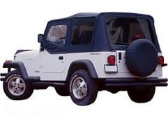 Replacement Soft Top, Black Diamond (Tinted Windows)
